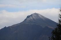 磐梯山初冠雪 山頂2012年10月24日