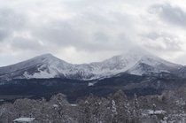 お部屋から雪の磐梯山が眺められます
