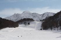 ファミリーに人気の裏磐梯スキー場