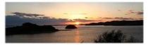 黒島に沈む夕日