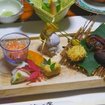 *夕食一例【おすすめプランの前菜】