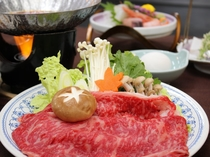 厳選食材の会席コース♪メインは山形県産牛すき焼き