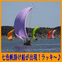 七色帆掛け船出現ラッキ〜