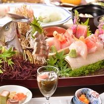 *【夕食(一例)】伊豆に来たなら新鮮な海の幸は外せません!