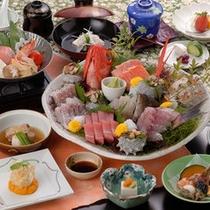 *新鮮な海の幸満載のご夕食(一例)