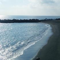 宿から近くにあるプライベートビーチ