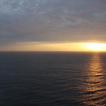 お部屋から見た朝焼け風景