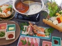 薬膳火鍋をブリーズベイ修善寺ホテルオリジナルの味でお召し上がりください。