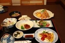 二食付宿泊プランの夕食(6月のある日)