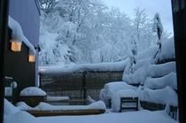 冬は雪見温泉・・・