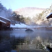 西の河原露天風呂(冬)