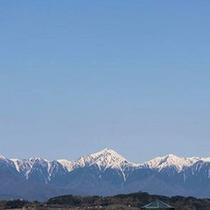北アルプスを眺めながらの朝…