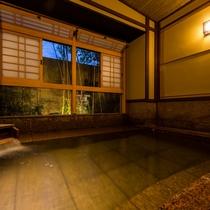 「赤御影座敷風呂」夜