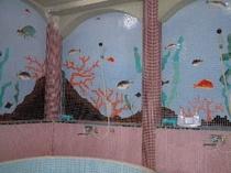 竜宮風呂のタイル絵