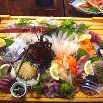 *【夕食】お刺身盛り合わせ例