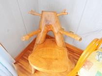 【洋室ツイン】木製のかわいらしい椅子♪