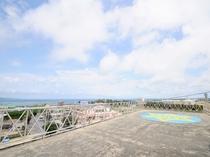 【屋上】ペンションMUの絶景スポット。天気の良い日は屋上へ出て絶景を眺めながらリフレッシュ♪