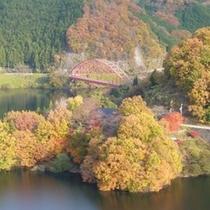 秋の青蓮寺湖