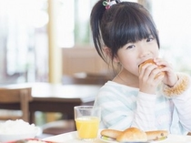 朝食食べて元気にスタート!