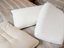 各種貸し枕(低反発・そば殻・羽毛)