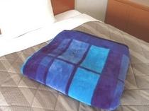 毛布(南国宮崎も冬場はけっこう冷えます)
