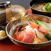■海鮮丼朝食一例