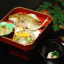 ■小鯛の塩焼きと紅白吸い物