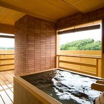 ■露天風呂付客室の露天風呂一例