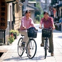 レンタサイクルで街を散策♪