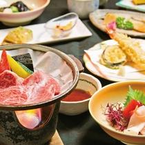 【夕食一例】国産黒毛和牛の陶板焼付き