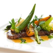 レストランハピナ(黒毛和牛のグリル/料理一例)