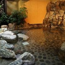 ジャングル風呂の岩風呂