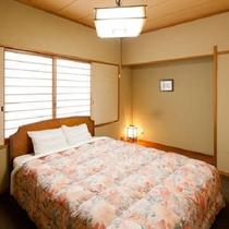 ベッドの付き和洋室