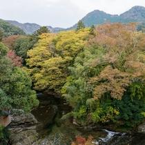 ホテル脇 袋田の滝から流れる滝川