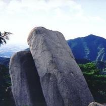 雄大な景色に囲まれた湯の山
