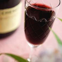 赤ワインボトル&グラス