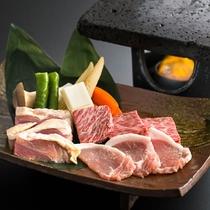 【別注】松阪牛・菰野豚・赤鶏食べ比べ