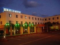 ■鹿島ポートホテル外観【夜】