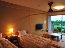 和洋室【ベッド+和室4.5畳】