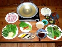 特別料理「野菜しゃぶしゃぶ」