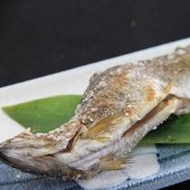 ニジマスの塩焼き(夕食一例)