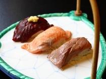 三種の握り寿司