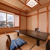 *和室(梅)/純和風の設えを施した書院造りのお部屋。大人の静寂な休日を演出。