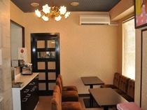 【館内風景】朝のコーヒー・トースト無料サービスはこちらでどうぞ!