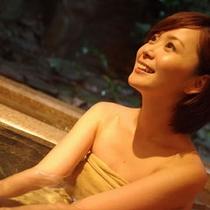 4種類から選べる貸切風呂は白銀の湯を引き込んでおります
