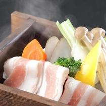 【一番人気プラン「メイン料理を5種類から選択」】群馬の伝統野菜と氷室豚のせいろ蒸し