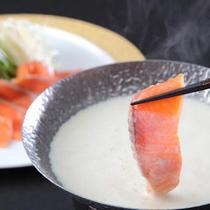 【一番人気プラン「メイン料理を5種類から選択」】ギンヒカリの豆乳しゃぶしゃぶ鍋