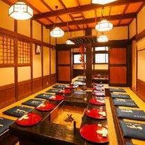 ◆囲炉裏を囲んでのお食事(会場一例)