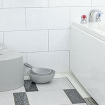 洗面器とイスも設置してある、洗い場付のバスルーム☆ご家庭と同じ感覚でゆっくりお風呂に入れます♪