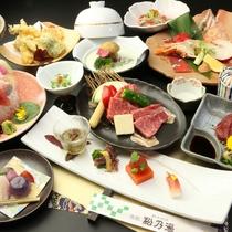 【夕食・グレードアップ】熊本のブランド牛≪藤彩牛≫&熊本の名産≪馬肉≫を一度に食べられる♪